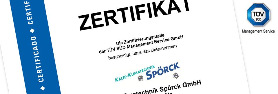 Spoerck Klimatechnik Marburg nach ISO 9001 zertifiziert