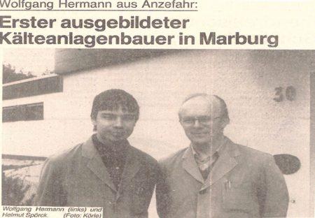 Wolfgang Hermann - Marburgs erster ausgebildeter Kälteanlagenbauer